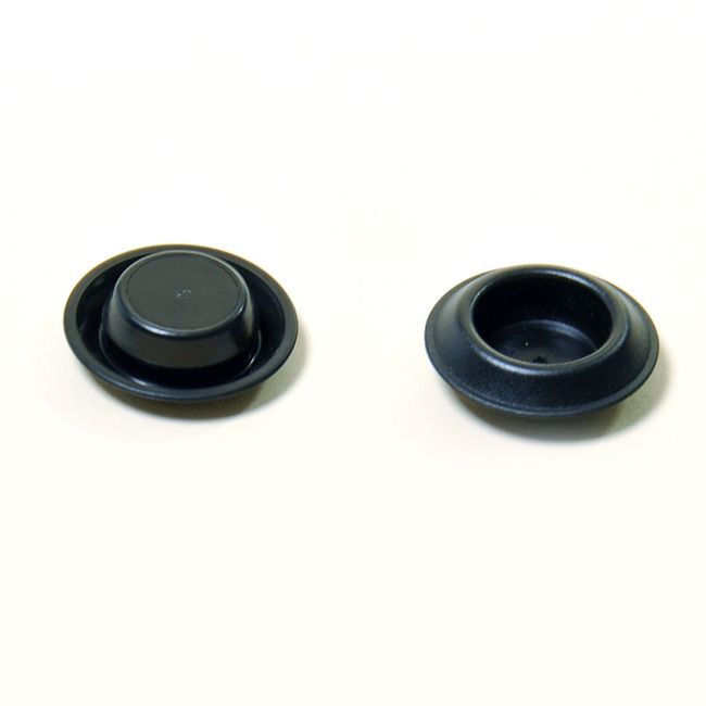 Sheet Metal Plugs-Depressed Center- Black Poly.