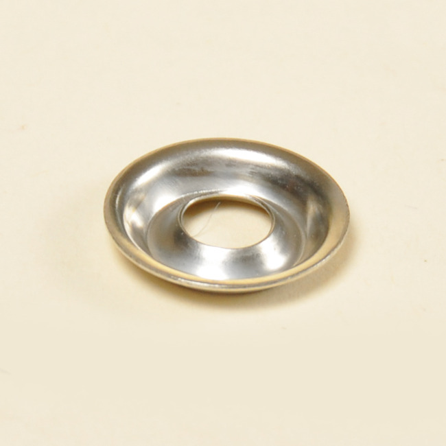 #8 Flanged Type Countersunk Washer- Nickel On Brass; Package of 100