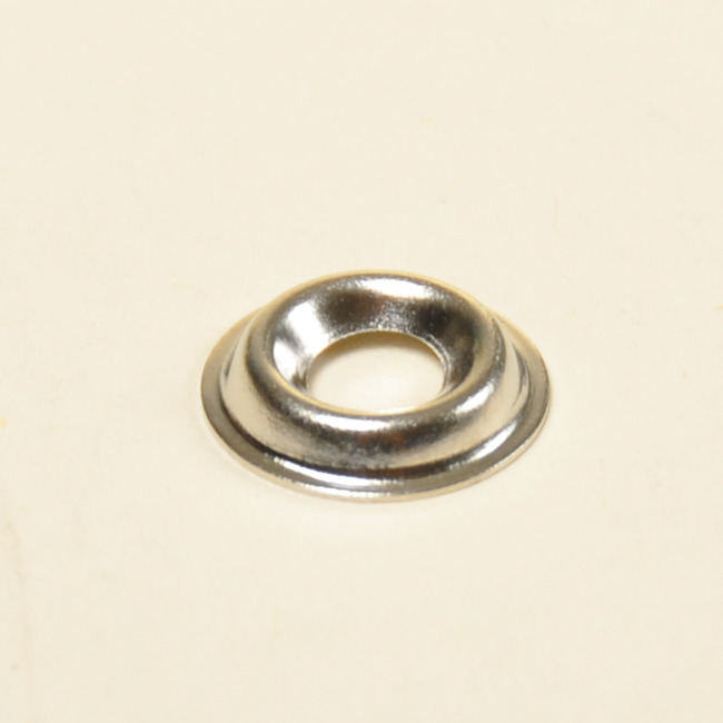 #6 Flanged Type Countersunk Washer- Nickel On Brass (Package of 100)