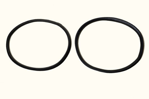 990076-WS  1950-1956 International 'L' 'R' 'S' Series Truck; Moulded DOUBLE Rear Window Gasket (Sold As A Pair)