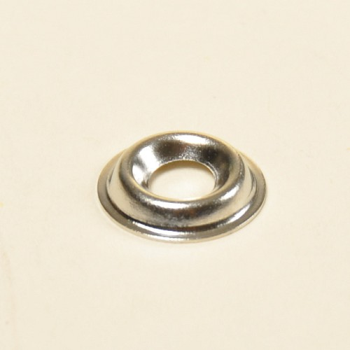 #6 Flanged Type Countersunk Washer- Nickel On Brass (Package of 10)